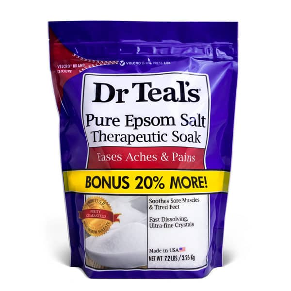 Dr Teals Epsom Salts, Traditional Standup Pouch with velcro closure