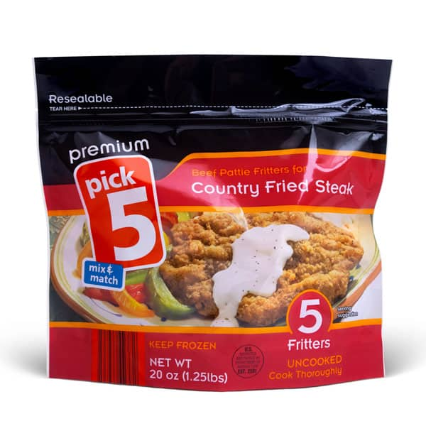 Premium Pick 5 Standup Pouch, resealable