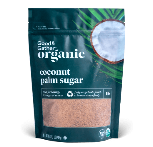 Good & Gather Coconut Palm Sugar Recyclable Standup Pouches
