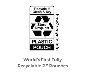 Accredo developed the world's first fully recyclable PE Pouches