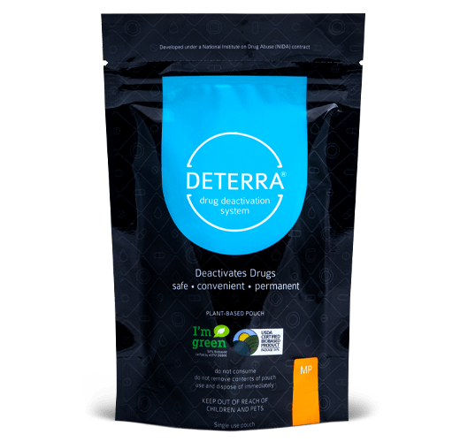 Deterra traditional stand-up pouch