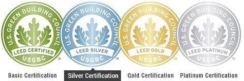 LEED Certification Legend: 4 Levels