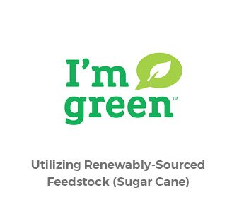 Accredo offers I'm Green Renewable Plastic in Recyclable and Traditional packaging