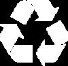 Recycle Symbol, white
